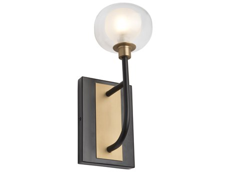 Artcraft Lighting Grappolo Matte Black / Vintage Gold LED Wall Sconce ACAC7001BG