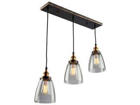 Artcraft Lighting Greenwich Bronze & Copper Three-Light 23'' Wide Island Light ACAC10160