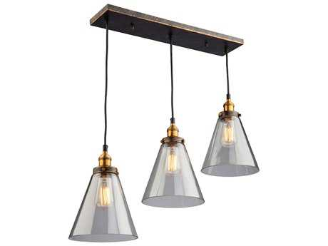Artcraft Lighting Greenwich Bronze & Copper Three-Light 30'' Wide Island Light ACAC10168