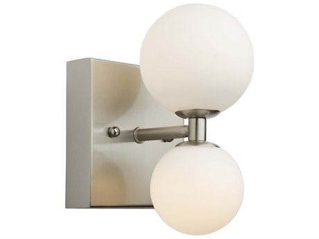 Artcraft Lighting Hadleigh Brushed Nickel Glass LED Vanity Light ACAC6612