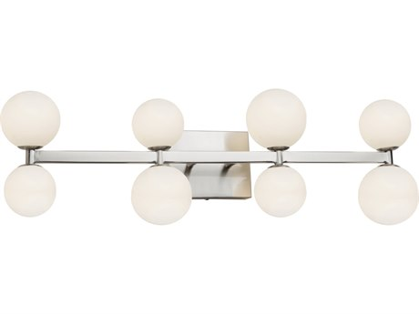 Artcraft Lighting Hadleigh Brushed Nickel Glass LED Vanity Light ACAC6618