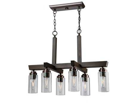 Artcraft Lighting Home Glow Brunito Six-Light 31'' Wide Island Light ACAC10866BU
