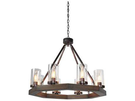 Artcraft Lighting Jasper Park Bronze Eight-Light 29'' Wide Chandelier
