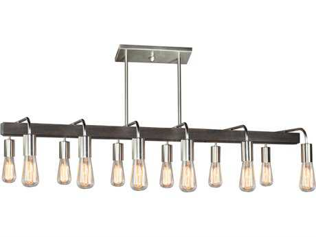 Artcraft Lighting Jasper Park Brushed Nickel 12-Light 15'' Wide Island Light ACAC10452BN