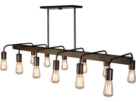 Artcraft Lighting Jasper Park Bronze 12-Light 15'' Wide Island Light