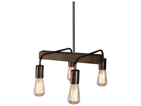 Artcraft Lighting Jasper Park Bronze Four-Light 15'' Wide Island Light