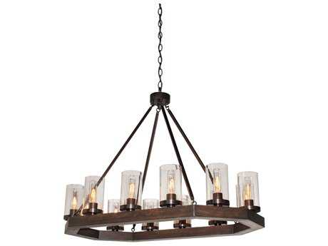 Artcraft Lighting Jasper Park Bronze 12-Light 23'' Wide Island Light ACAC10542BU