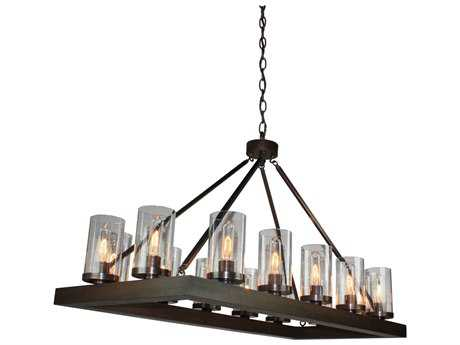 Artcraft Lighting Jasper Park Bronze 14-Light 19'' Wide Island Light ACAC10554BU