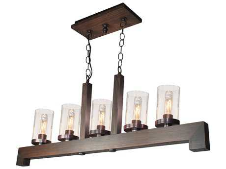 Artcraft Lighting Jasper Park Bronze Three-Light 40'' Wide Island Light