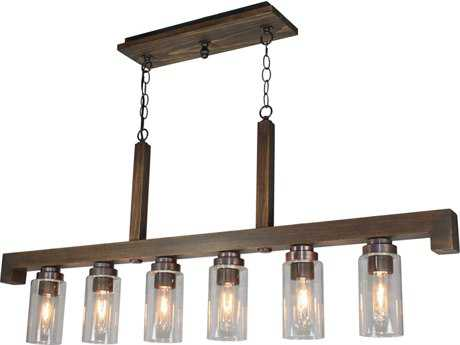 Artcraft Lighting Jasper Park Bronze Six-Light 4'' Wide Island Light ACAC10566BU