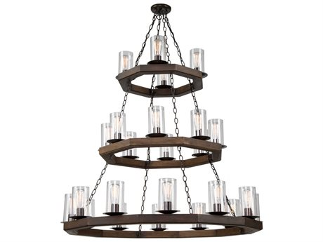 Artcraft Lighting Jasper Park Brunito Bronze 24-Light 44'' Wide Grand Chandelier