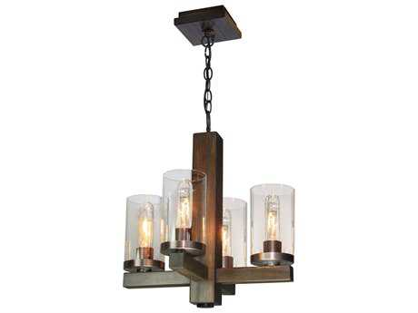 Artcraft Lighting Jasper Park Bronze Four-Light 15'' Wide Chandelier ACAC10544BU