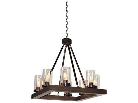 Artcraft Lighting Jasper Park Bronze Eight-Light 23.5'' Wide Chandelier