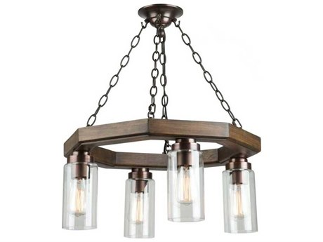 Artcraft Lighting Jasper Park Brunito Bronze Four-Light 21'' Wide Mini Chandelier