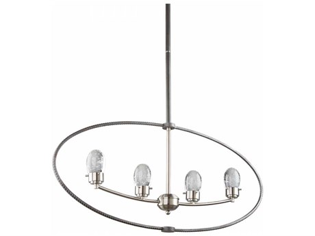 Artcraft Lighting Kingsford Slate & Brushed Nickel Four-Light 36'' Wide LED Island Light ACAC7454