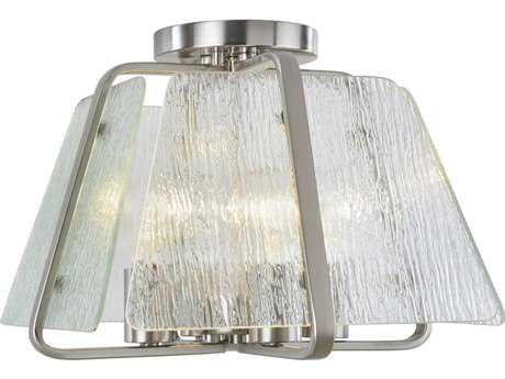Artcraft Lighting La Traviata Brushed Nickel Four-Light Flush Mount Light ACAC10473BN
