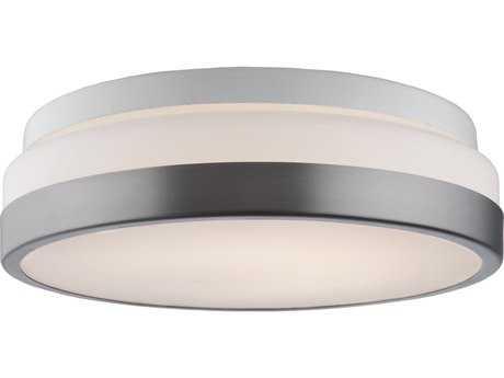 Artcraft Lighting LED Brushed Nickel 12'' Wide Flush Mount Light ACAC7361