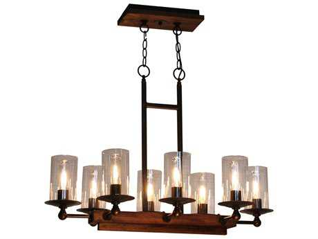 Artcraft Lighting Legno Rustico Brunito Eight-Light 17'' Chandelier ACAC10148BU