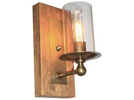 Artcraft Lighting Legno Rustico Burnished Brass Wall Sconce ACAC10147BB