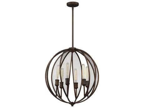 Artcraft Lighting Linden Bronze Six-Light 23'' Wide Chandelier ACAC10906OB