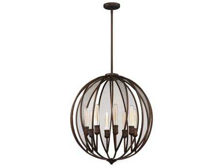 Artcraft Lighting Linden Bronze Eight-Light 26'' Wide Chandelier ACAC10908OB