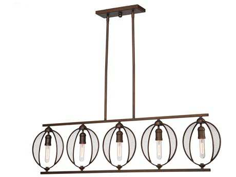 Artcraft Lighting Linden Bronze Five-Light 50'' Wide Island Light ACAC10905OB