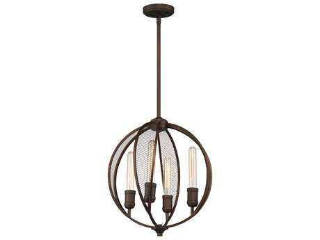 Artcraft Lighting Linden Bronze Four-Light 16'' Wide Mini Chandelier ACAC10904OB