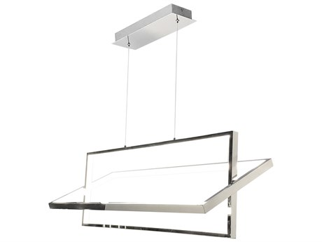 Artcraft Lighting Linear Chrome 36'' Wide LED Island Light ACSC13141CH