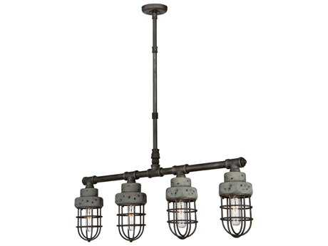 Artcraft Lighting Loft Slate and Grey Four-Light 32'' Wide Island Light ACAC10679