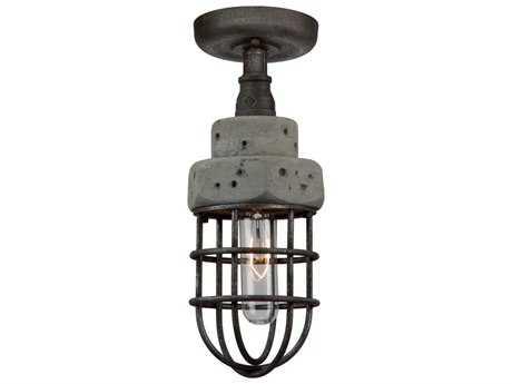 Artcraft Lighting Loft Slate and Grey 5'' Wide Semi-Flush Mount Light ACAC10670