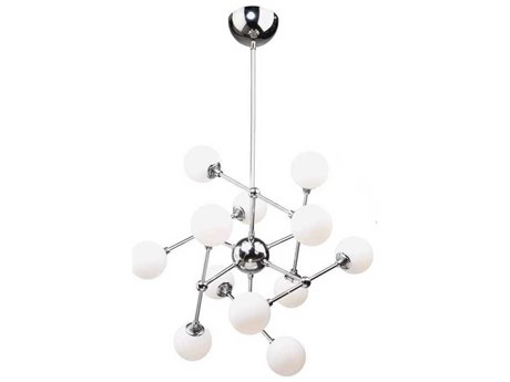 Artcraft Lighting Luna Chrome 12-Light 26'' Wide LED Chandelier ACAC7562