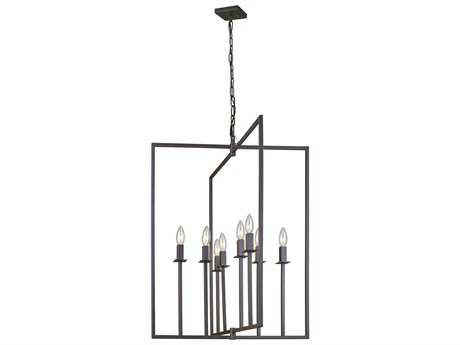 Artcraft Lighting Lux Oil Rubbed Bronze Eight-Light 24'' Wide Chandelier ACAC10722OB