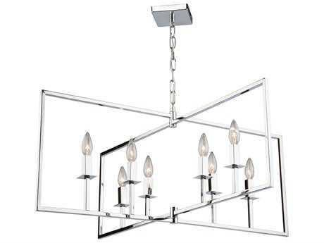 Artcraft Lighting Lux Chrome Eight-Light 36'' Wide Chandelier ACAC10723CH