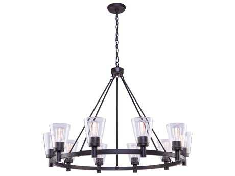 Artcraft Lighting Lux Oil Rubbed Bronze Ten-Light 42'' Wide Chandelier ACAC10760OB