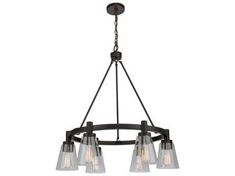 Artcraft Lighting Lux Oil Rubbed Bronze Six-Light 28'' Wide Chandelier ACAC10765OB
