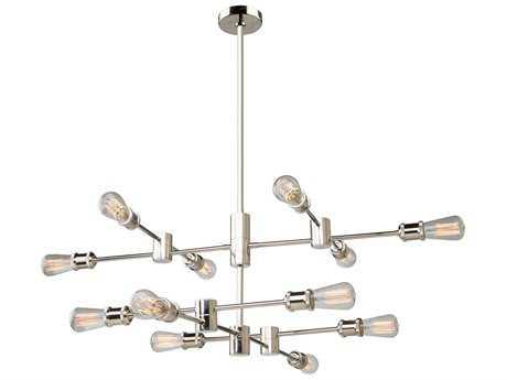 Artcraft Lighting Lux Polished Nickel 12-Light 36'' Wide Chandelier ACAC10782PN
