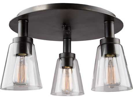 Artcraft Lighting Lux Oil Rubbed Bronze Three-Light 17'' Wide Flush Mount Light ACAC10768OB