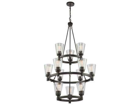 Artcraft Lighting Lux Oil Rubbed Bronze 12-Light 29'' Wide Grand Chandelier ACAC10762OB