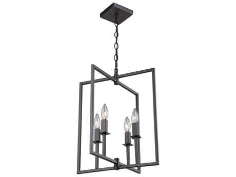 Artcraft Lighting Lux Oil Rubbed Bronze Four-Light 15'' Wide Mini Chandelier ACAC10720OB