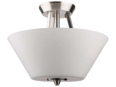 Artcraft Lighting Lux Brushed Nickel Three-Light 13'' Wide Semi-Flush Mount Light ACAC10918BN