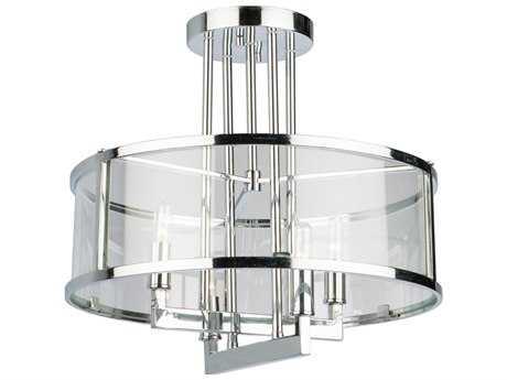 Artcraft Lighting Lux Chrome Four-Light 17'' Wide Semi-Flush Mount Light ACAC10983