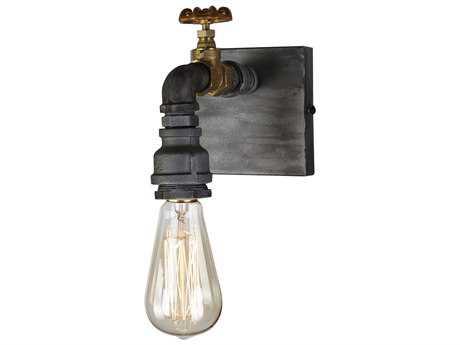 Artcraft Lighting Lux Iron & Brass Wall Sconce ACAC10811
