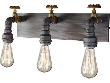 Artcraft Lighting Lux Iron & Brass Three-Light Wall Sconce ACAC10813