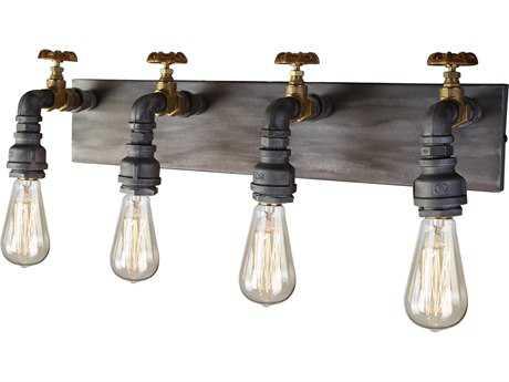 Artcraft Lighting Lux Iron & Brass Four-Light Wall Sconce ACAC10814