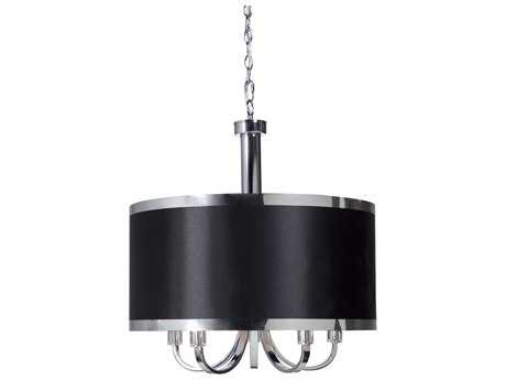 Artcraft Lighting Madison Black & Chrome Five-Light 24'' Wide Chandelier ACSC435BK