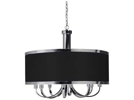 Artcraft Lighting Madison Black & Chrome Eight-Light 30'' Wide Chandelier ACSC438BK