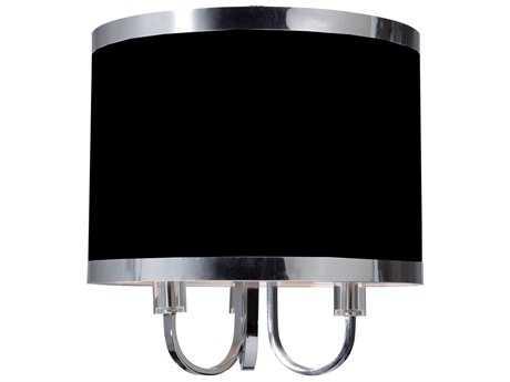 Artcraft Lighting Madison Black with Chrome Three-Light 16'' Wide Mini Chandelier ACSC433BK