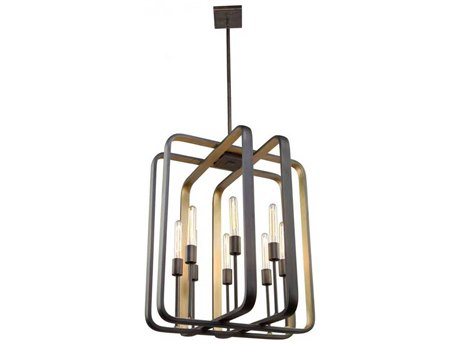 Artcraft Lighting Marlborough Oil Rubbed Bronze / Gold Leaf Eight-Light 24'' Wide Chandelier ACAC11083