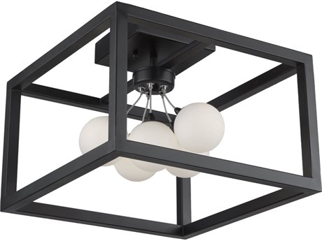 Artcraft Lighting Massey Matte Black 14'' Wide LED Flush Mount Light ACAC6600