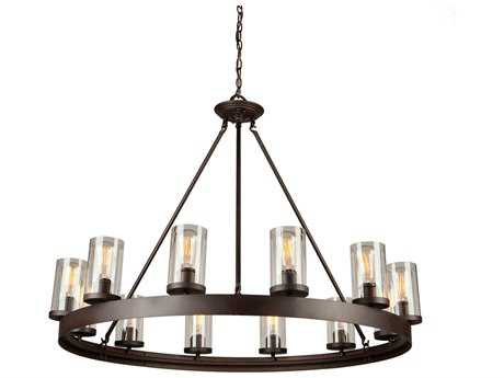Artcraft Lighting Melno Park Dark Chocolate 12-Light 41'' Wide Chandelier ACAC10002